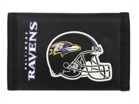 Baltimore Ravens VELCRO Nylon Wallet - NFL Rico TriFold Money Clip
