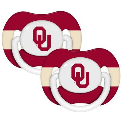 NCAA Oklahoma Sooners 2 Pack Pacifier (Discontinued by Manufacturer)