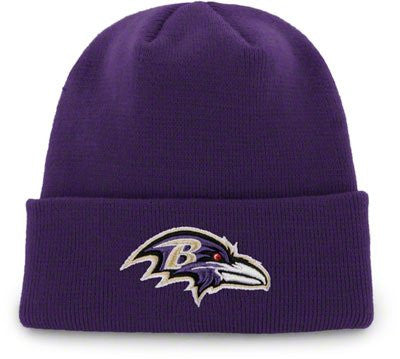 Baltimore Ravens Purple Beanie Hat - NFL Cuffed Cap