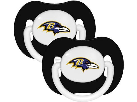 Baltimore Ravens Baby Pacifiers (2) - NFL BPA Free Baby Fanatic Pacifier