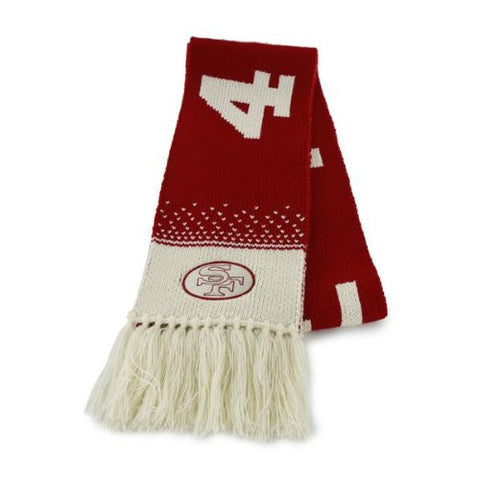 "San Francisco 49ers Legacy Red ""Magic Mountain"" Scarf - NFL Women's/Ladies Knit Scarf"