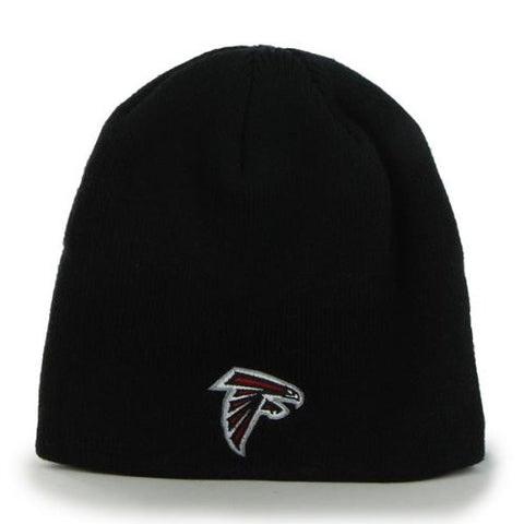 Atlanta Falcons Black Skull Cap - NFL Cuffless Winter Knit Toque Beanie Hat
