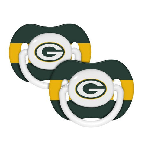 Green Bay Packers 2-pack Infant Pacifier Set - NFL Team Color Baby Pacifiers