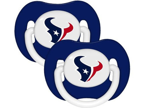 Houston Texans 2-pack Infant Pacifier Set - 2014 NFL Baby Pacifiers