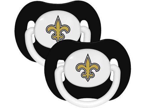 New Orleans Saints 2-pack Infant Pacifier Set - 2014 NFL Solid Color Baby Pacifiers