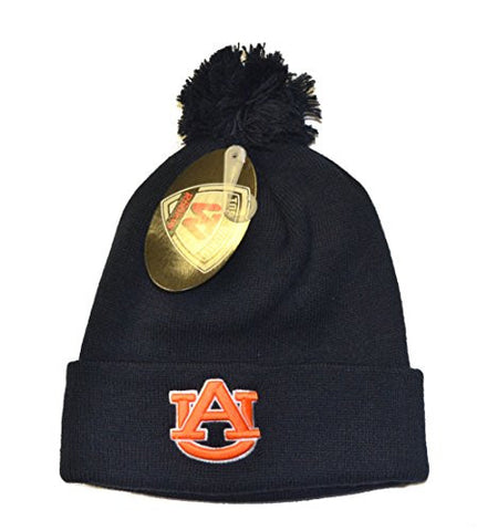 "Auburn Tigers Navy ""Rookie"" Youth Beanie Hat POM POM - NCAA Toddler/Kids Cuffed Winter Toque Knit Cap"