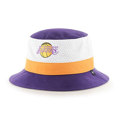 "47 Brand Los Angeles Lakers Purple ""Double Line Drop"" Bucket Hat - NBA Gilligan Fishing Cap"