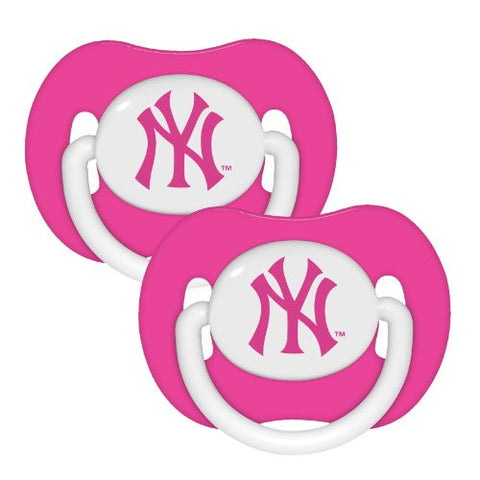 New York Yankees Pink 2-pack Infant Pacifier Set - 2014 MLB Baby Girl Pacifiers