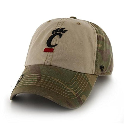 "Cincinnati Bearcats Faded Camo ""Gordie"" Clean Up Hat - NCAA '47 Baseball Cap"