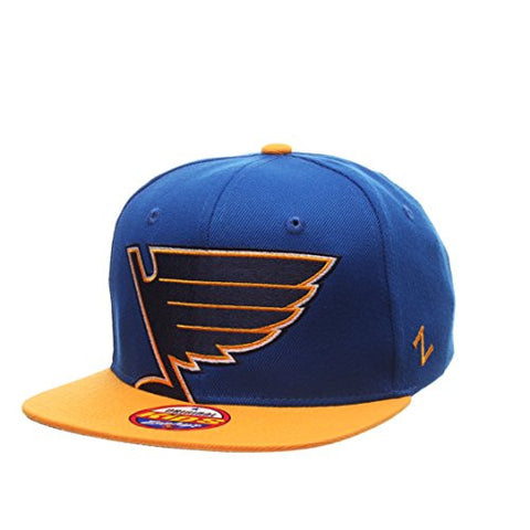 "St. Louis Blue YOUTH ""Peek"" Adjustable Snapback Cap - NHL Zephyr Kid's Flat Bill Baseball Hat"