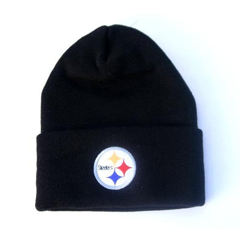 Pittsburgh Steelers Winter Knit Cap: Black with Cuff