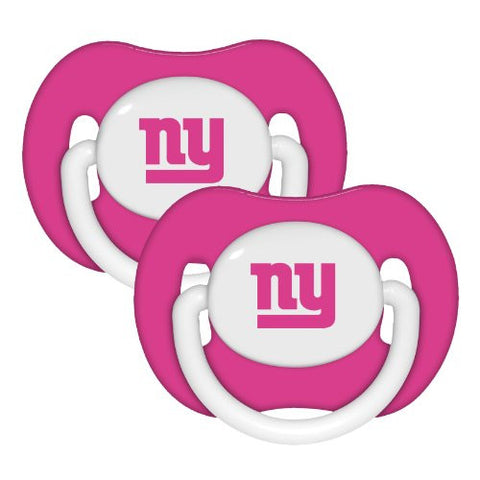New York Giants 2-pack Pink Infant Pacifier Set - 2014 NFL Baby Girl Pacifiers