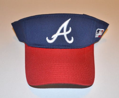 Atlanta Braves 2-Tone Visor Hat - ATL MLB Baseball Golf Cap
