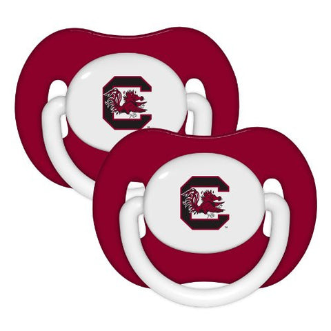 South Carolina Gamecocks Red 2-pack Infant Pacifier Set - 2014 USC NCAA Baby Pacifiers