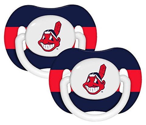 Cleveland Indians Pacifier - 2 Pack, Catalog Category: MLB