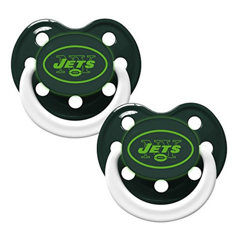 New York Jets Glow in Dark 2-Pack Baby Pacifier Set - NFL Infant Pacifiers