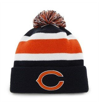 "Chicago Bears ""C"" Blue Cuff Breakaway Beanie Hat with Pom - NFL Cuffed Winter Knit Toque Cap"