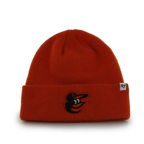 Baltimore Orioles Orange Cuff Beanie Hat - MLB Cuffed Knit Toque Cap