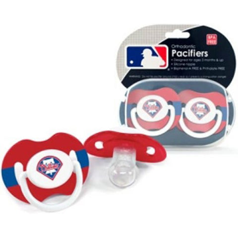 BSS - Philadelphia Phillies MLB Baby Pacifiers (2 Pack)