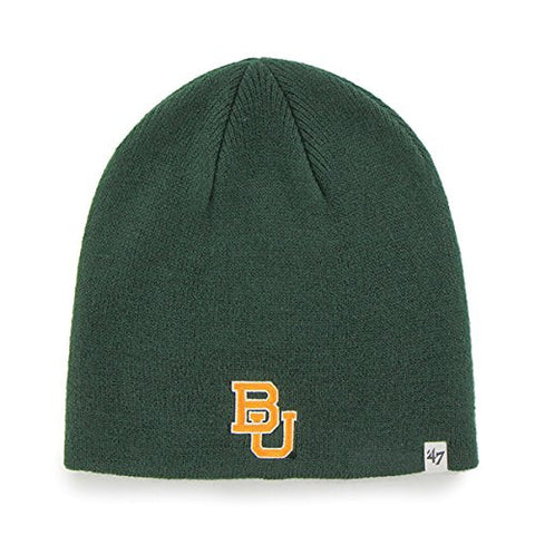 Baylor Bears Green Skull Cap - NCAA Cuffless Winter Knit Toque Beanie Hat