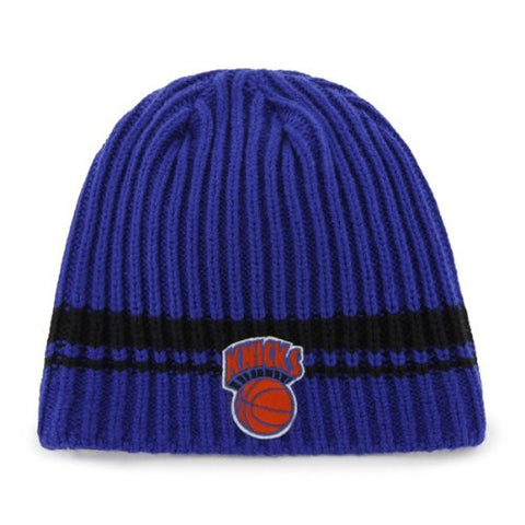 "New York Knicks Royal ""Ontario"" Skull Cap - NBA NY Cuffless Beanie Knit Hat"