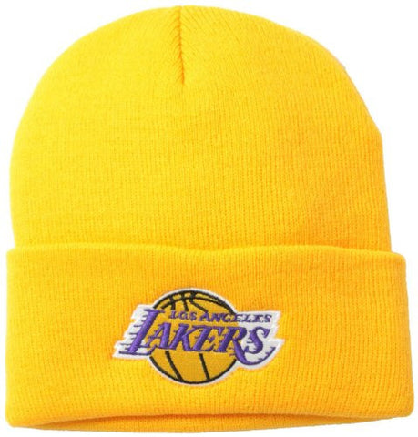 Los Angeles Lakers Yellow Beanie Hat - NBA Cuffed Cap