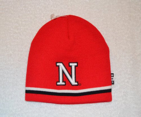 Nebraska Cornhuskers Red Skull Cap - NCAA Cuffless Winter Knit Hat