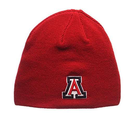 "Arizona Wildcats Red ""Edge"" Skull Cap - NCAA Cuffless Winter Knit Beanie Toque Hat"