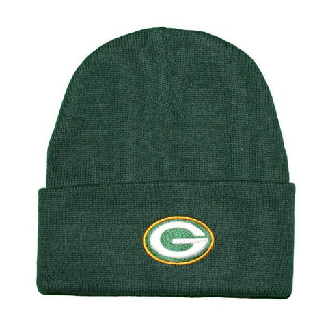 NFL Reebok Green Bay Packers Green Cuffed Beanie Knit Hat (OSFA)