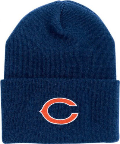 Chicago Bears Classic Logo Cuffed Winter Knit Hat - Navy