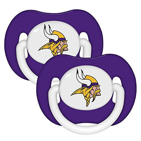 Minnesota Vikings Purple 2-pack Infant Pacifier Set - 2014 NFL Solid Color Baby Pacifiers