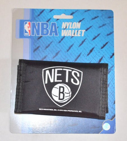 Brooklyn Nets VELCRO Nylon Wallet - NBA Rico TriFold Money Clip