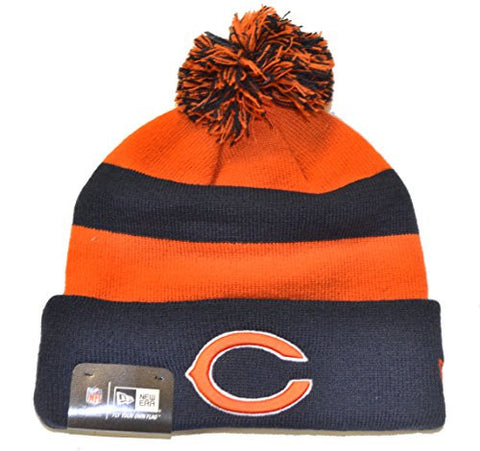 Chicago Bears Sport Beanie Hat with POM POM - NFL Cuffed Winter Knit Toque Cap
