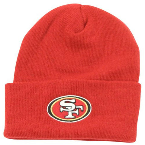 NFL End Zone Cuffed Knit Hat - K010Z, San Francisco 49ers, One Size Fits All