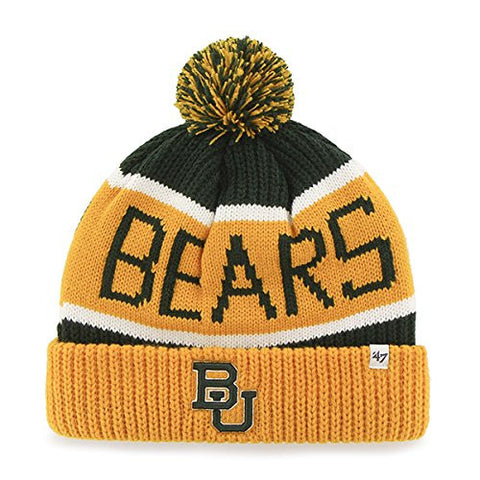 47 Brand Baylor Bears Calgary Knit Hat - Gold/Green