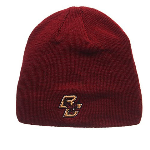 "Boston College Eagles Red ""Edge"" Skull Cap - NCAA Cuffless Winter Knit Beanie Toque Hat"