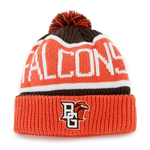"Bowling Green State Falcons Orange Cuffed ""Calgary"" Beanie Hat with Pom - NCAA Cuff Winter Knit Toque Cap"