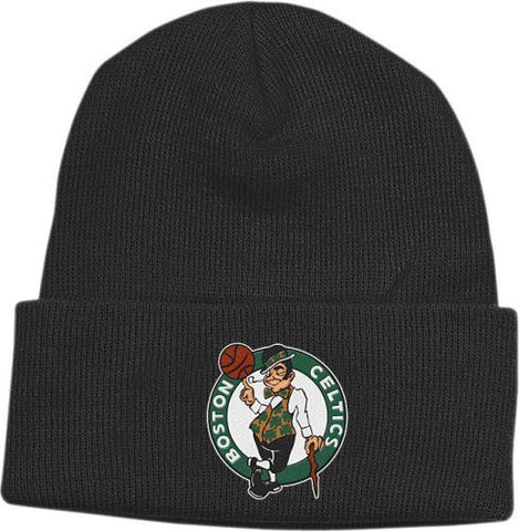 NBA adidas Boston Celtics Cuffed Knit Beanie - Black