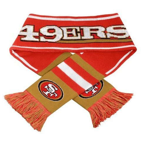 San Francisco 49ers Woodmark Scarf - 2013 SF NFL Knit Scarves