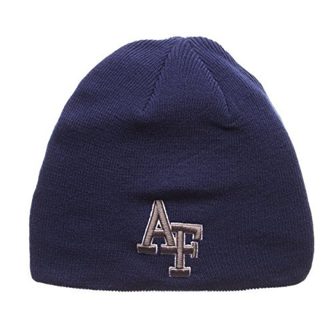 "Air Force Falcons Royal Blue ""Edge"" Skull Cap - NCAA USAF Cuffless Winter Knit Beanie Toque Hat"
