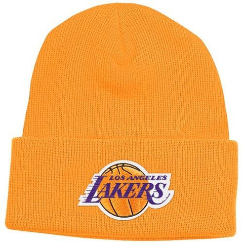 Los Angeles Lakers Beanie Cuffed Adidas Beanie-yellow – Grand Slam Hats 0bfd87e0075