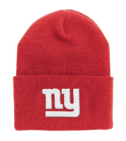 New York Giants Classic Cuffed Winter Knit Hat - Red