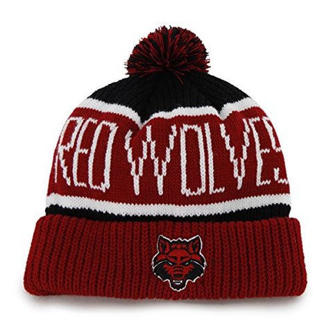 "Arkansas State Red Wolves Red Cuff ""Calgary"" Beanie Hat with Pom - NCAA Cuffed Winter Knit Toque Cap"
