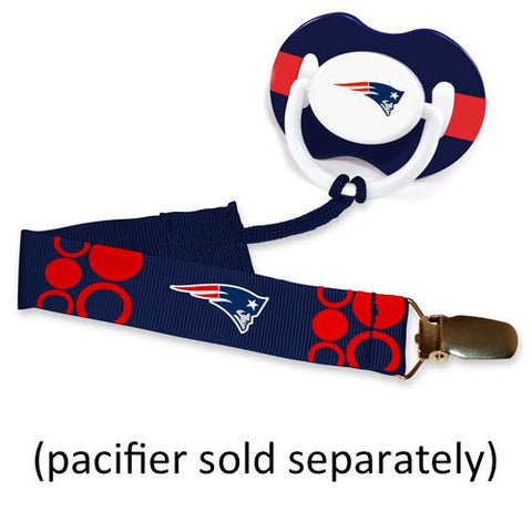 Baby Fanatic Pacifier Clip, New England Patriots (Discontinued by Manufacturer)
