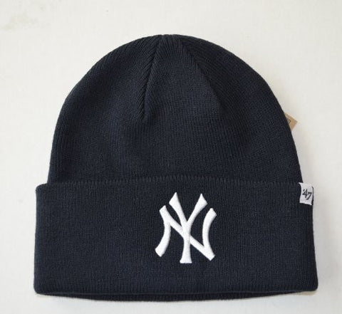 New York Yankees - Mens New York Yankees - Logo Navy Cuff Beanie Dark Blue