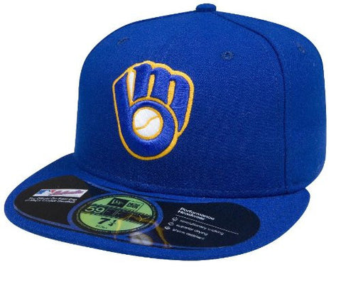 Milwaukee Brewers Authentic Alternate Performance 59Fifty On-Field Cap 7 5/8