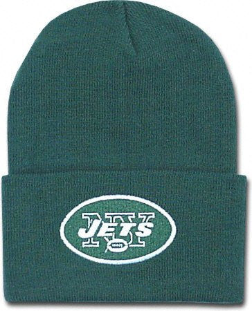 New York Jets Green Beanie Hat - NFL NY Cuffed Winter Knit Toque Cap ... 6341575a0fa