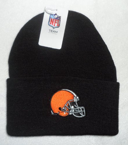 Reebok Cleveland Browns Cuffed Knit Hat in Black
