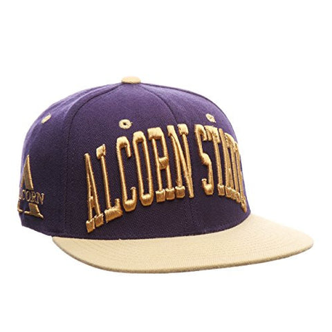 "Alcorn State Braves ""Super Star"" 32/5 Adjustable Snapback Cap - NCAA Flat Bill Zephyr Baseball Hat"