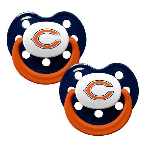 Chicago Bears 2-Tone 2-pack Infant Pacifier Set - 2014 NFL Baby Pacifiers